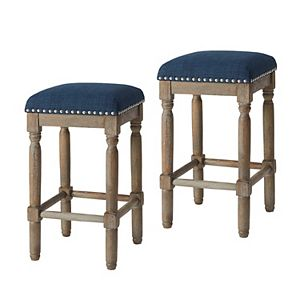 Madison Park Backless Counter Stool 2-piece Set