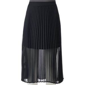 Juniors' Love, Fire Sheer Pleated Midi Skirt