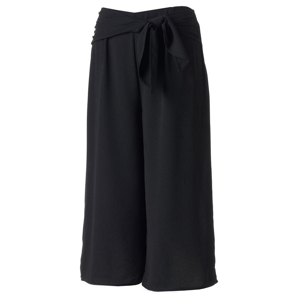 Juniors' Love, Fire Tie Front Gaucho Pants