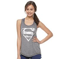 Juniors' Her Universe Superman Split Back Graphic Tank by DC Comics
