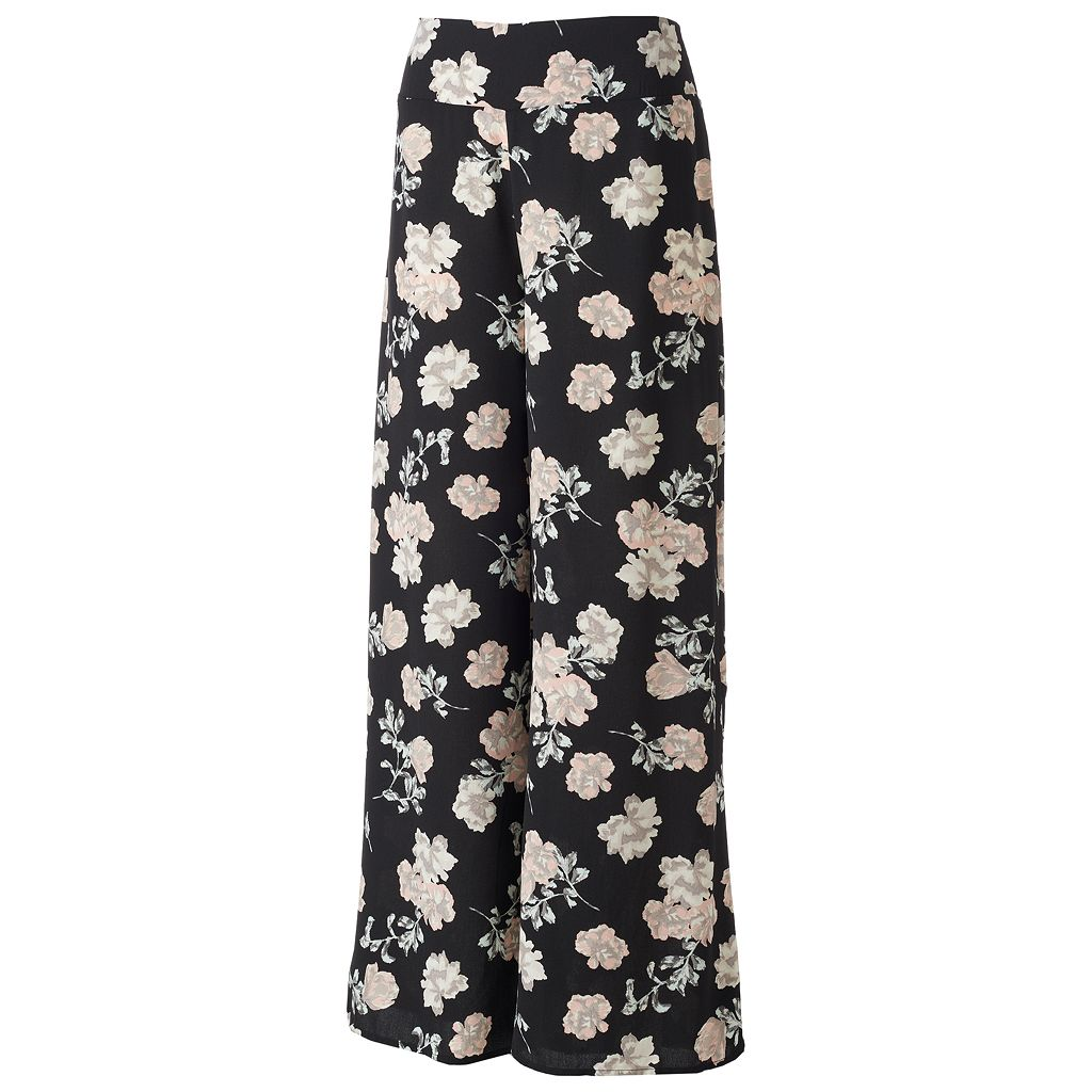 Juniors' Love, Fire Floral Palazzo Pants