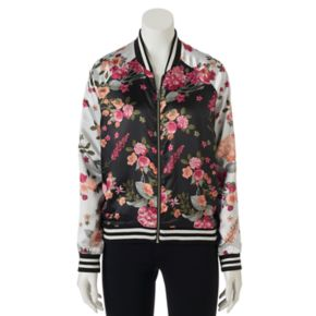 Juniors' Love, Fire Floral Bomber Jacket