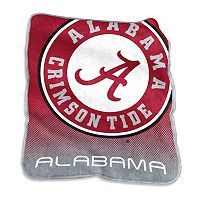 Logo Brand Alabama Crimson Tide Raschel Throw Blanket