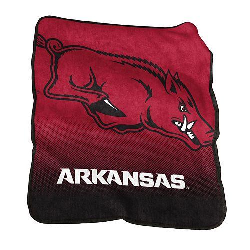 Logo Brand Arkansas Razorbacks Raschel Throw Blanket