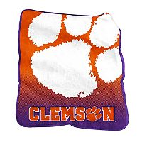 Logo Brand Clemson Tigers Raschel Throw Blanket