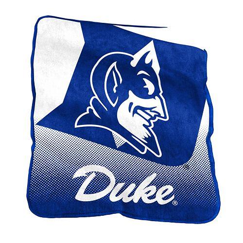 Logo Brand Duke Blue Devils Raschel Throw Blanket