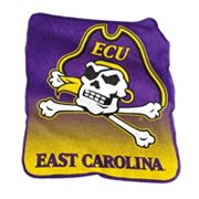 Logo Brand East Carolina Pirates Raschel Throw Blanket