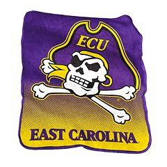 Logo Brand East Carolina Pirates Raschel Throw Blanket