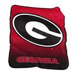 Logo Brand Georgia Bulldogs Raschel Throw Blanket
