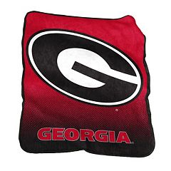 Logo Brand Georgia Bulldogs Raschel Throw Blanket