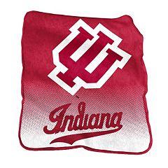 Logo Brand Indiana Hoosiers Raschel Throw Blanket