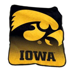 Logo Brand Iowa Hawkeyes Raschel Throw Blanket