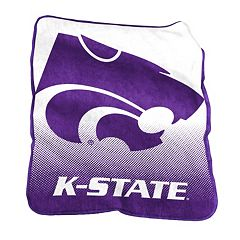 Logo Brand Kansas State Wildcats Raschel Throw Blanket