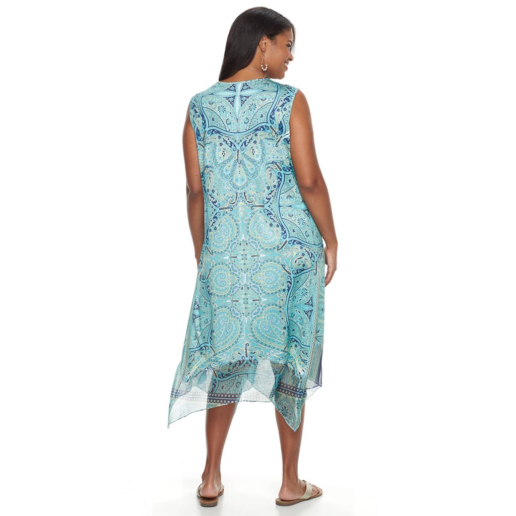 Plus Size World Unity Crochet Shark-Bite Dress