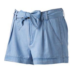 Juniors' SO® Chambray Shortie Shorts