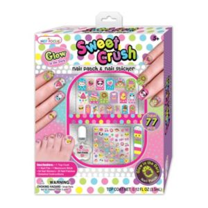 Hot Focus Sweet Crush Nail Patch & Nail Stickers Set