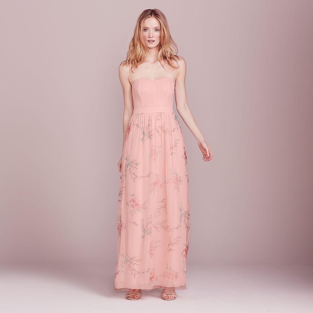 LC Lauren Conrad Dress Up Shop Collection Floral Strapless Maxi Dress - Women's