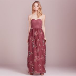 LC Lauren Conrad Dress Up Shop Collection Floral Strapless Maxi Dress - Women's