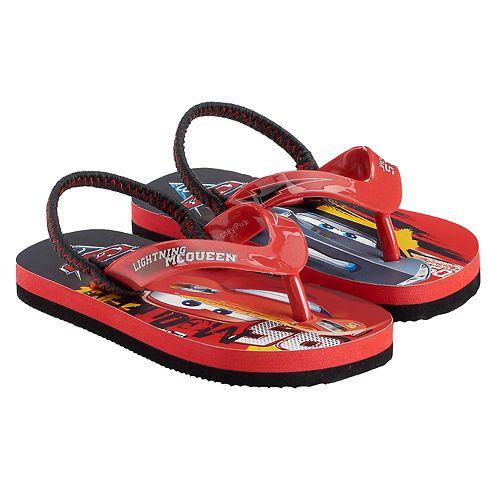 3f06ddd1fb44 Disney   Pixar Cars 3 Lightning McQueen   Jackson Storm Toddler Boy Thong  Flip-Flops