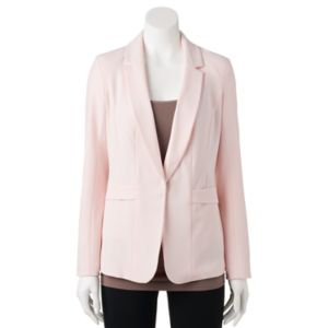 Juniors' Candie's® Ruched Sleeve Suiting Blazer