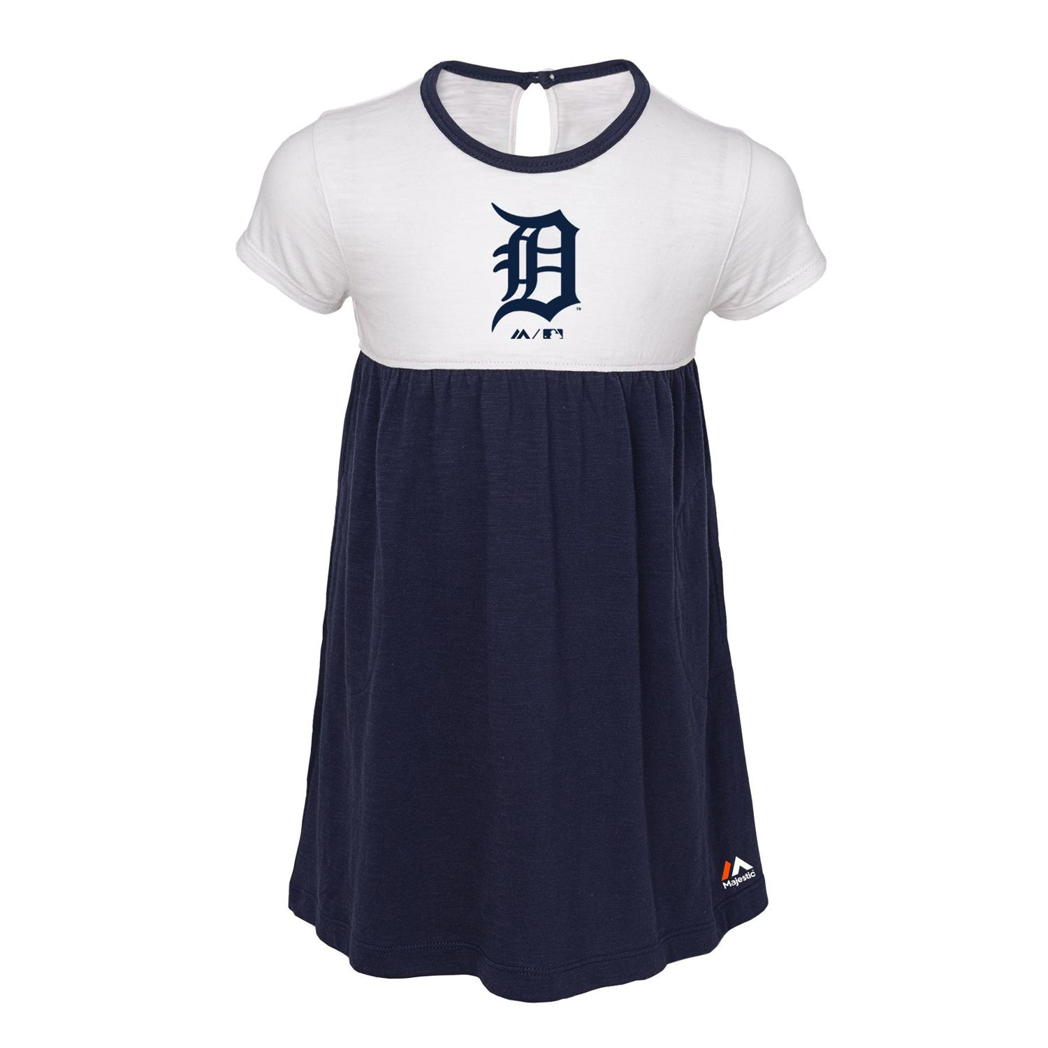 Toddler Girl Majestic Detroit Tigers 7th Inning Dress