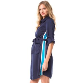Maternity Pip & Vine by Rosie Pope Side-Stripe Shirtdress