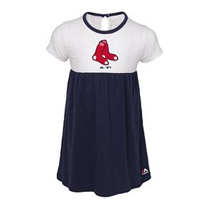 Toddler Girl Majestic Boston Red Sox 7th Inning Dress