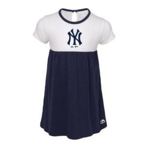 Toddler Girl Majestic New York Yankees 7th Inning Dress