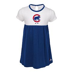 Toddler Girl Majestic Chicago Cubs 7th Inning Dress