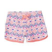 Toddler Girl Jumping Beans® Print Pom-Trim Shorts