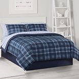 The Big One® Blue Plaid Microfiber Bedding Set