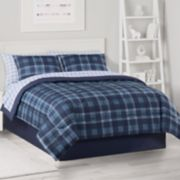The Big One® Blue Plaid Microfiber Bedding Set