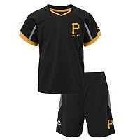 Toddler Majestic Pittsburgh Pirates Legacy Tee & Shorts Set