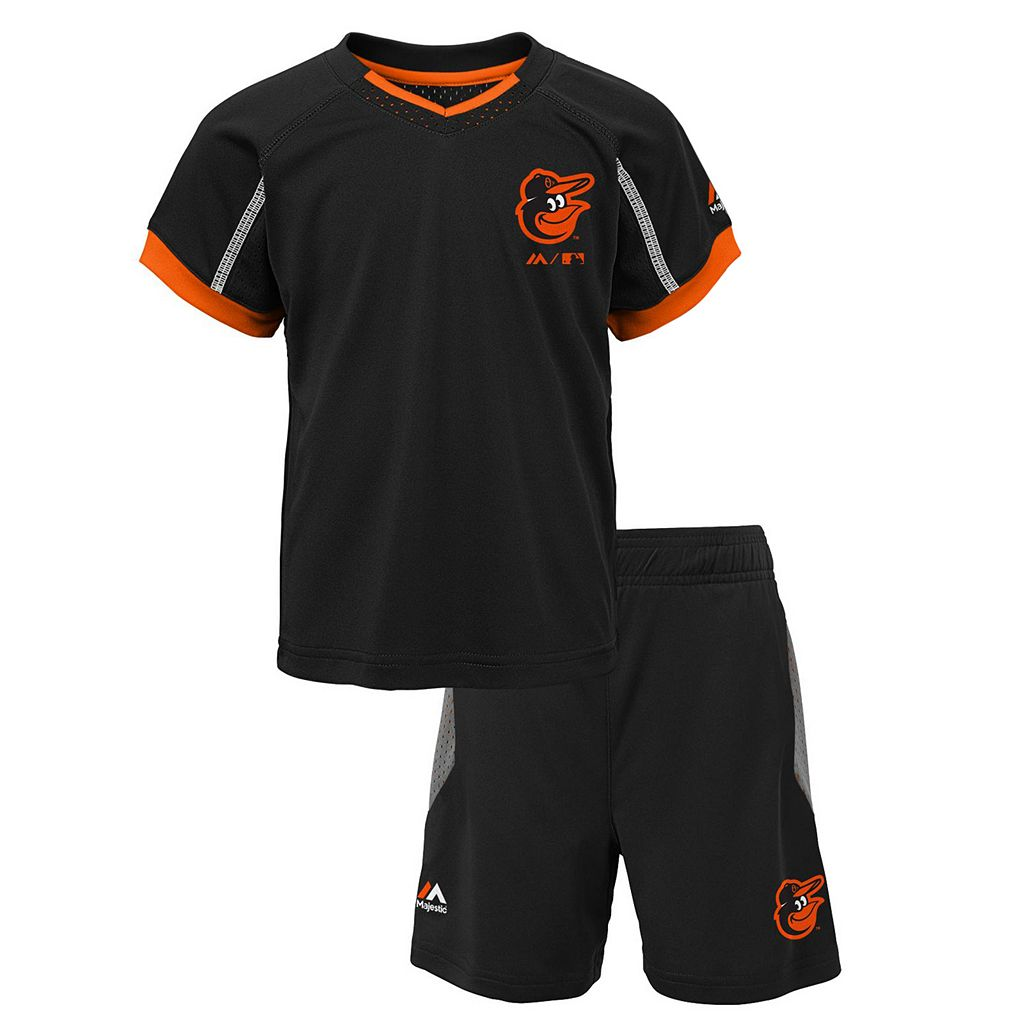 Toddler Majestic Baltimore Orioles Legacy Tee & Shorts Set