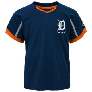 Toddler Majestic Detroit Tigers Legacy Tee & Shorts Set