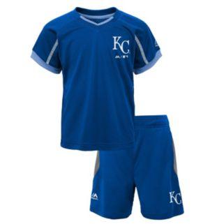 Toddler Majestic Kansas City Royals Legacy Tee & Shorts Set
