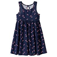 Toddler Girl Jumping Beans® Print Pom-Trim Dress