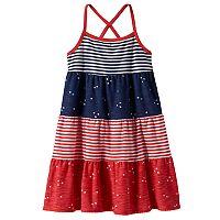 Toddler Girl Jumping Beans® Star & Stripe Tiered Dress