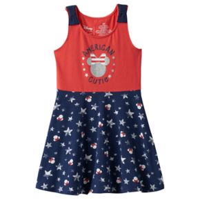 "Disney's Minnie Mouse Toddler Girl ""American Cutie"" Skater Dress by Jumping Beans®"