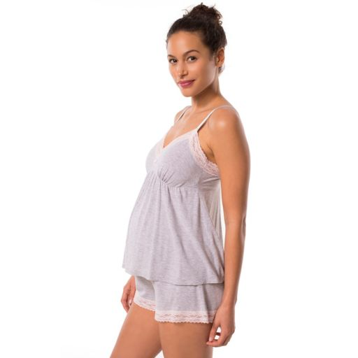 Maternity Pip & Vine Lace Nursing Cami & Shorts Sleep Set