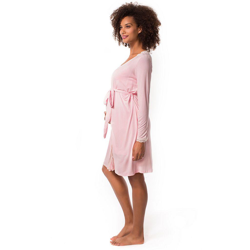Maternity Pip & Vine by Rosie Pope Nursing Slip & Robe Sleep Set