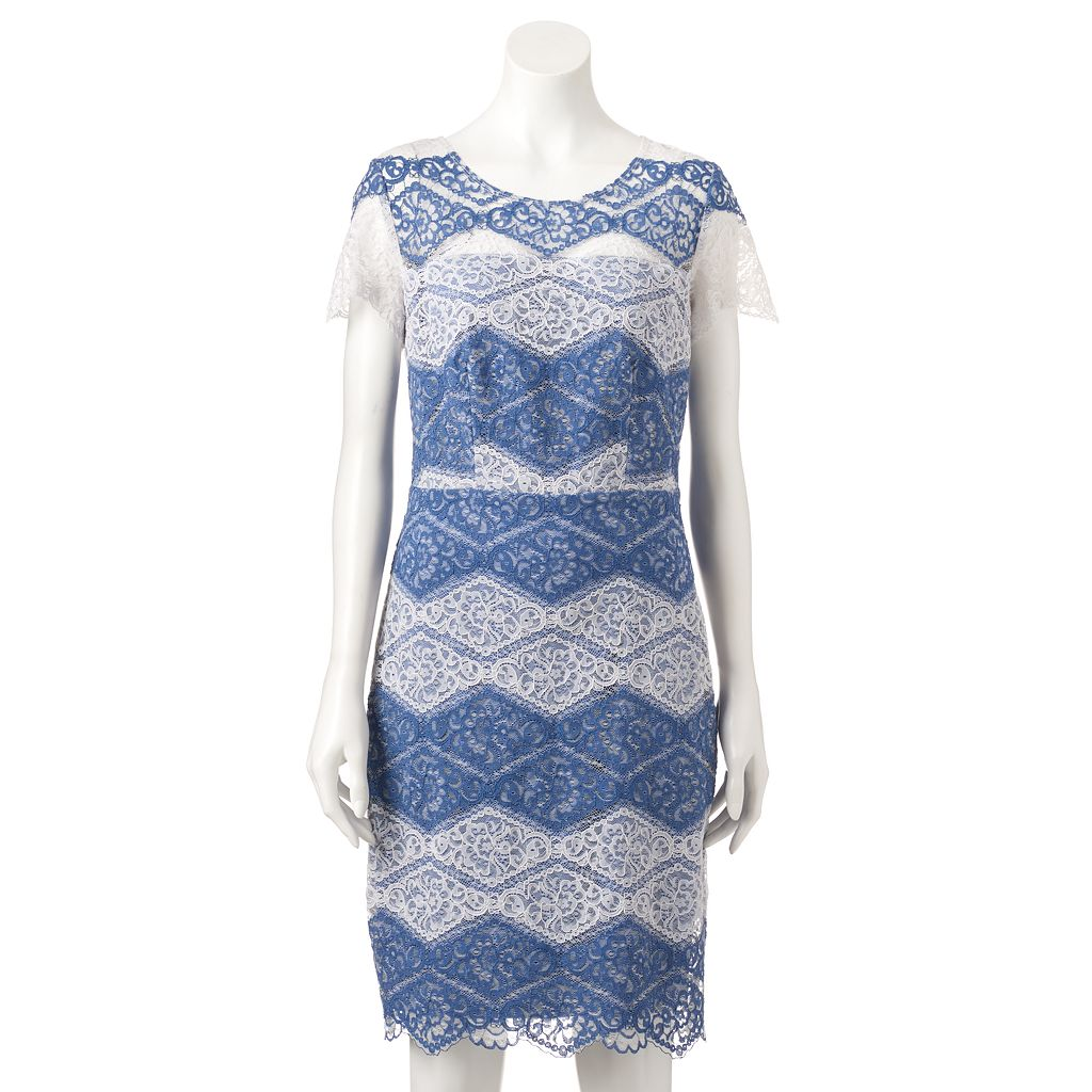 Women's Chaya Striped Lace Sheath Dress