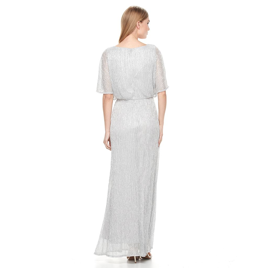 Women's Chaya Metallic Blouson Evening Gown