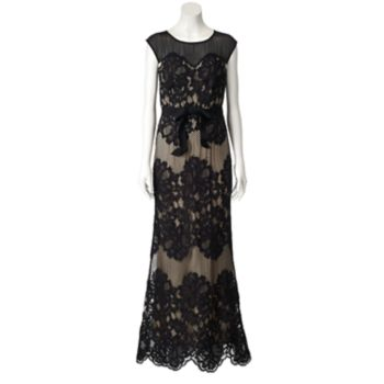 Women's Chaya Illusion Lace Evening Gown