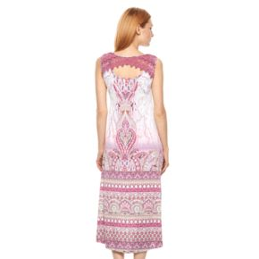Women's World Unity Print High-Low Shift Dress