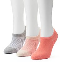 Women's SONOMA Goods for Life™ 3-pk. Striped Non-Slip No Show Socks