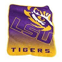 Logo Brand LSU Tigers Raschel Throw Blanket