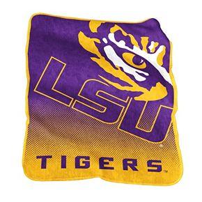 Logo Brand LSU Tigers Raschel Throw Blanket