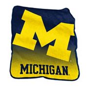 Logo Brand Michigan Wolverines Raschel Throw Blanket