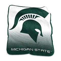 Logo Brand Michigan State Spartans Raschel Throw Blanket